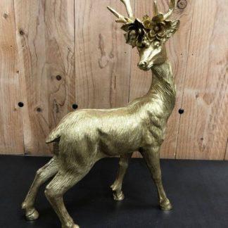 Cerf doré H48cm