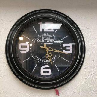 Horloge Noir industriel. Diamètre 45cm