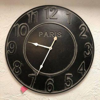 Horloge noir Paris. Diamètre 50cm