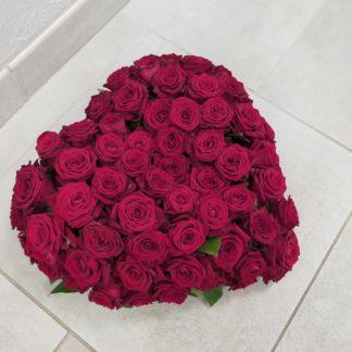Coeur de roses Fleuriste avant lheure Mont-pres-chambord/blois